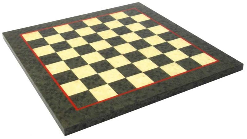 Green and White Maple Chess Board