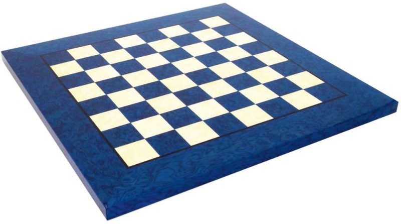 Briar Maple Chess Board in Blue and White with 4cm Squares