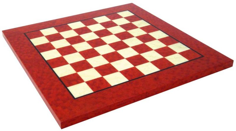Red and White Maple Chess Board