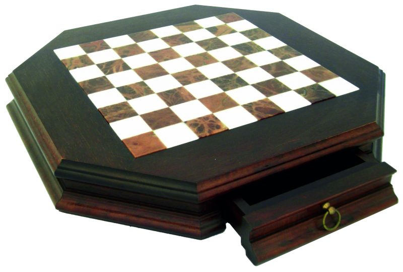 Tuscany Alabaster Chessboard with Wooden Frame