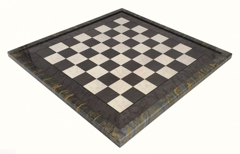 509R Grey Maple Chess Board with Wooden Decorated Surround