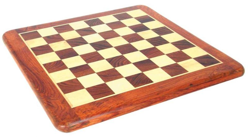 Golden Rosewood and Maple Chess Board