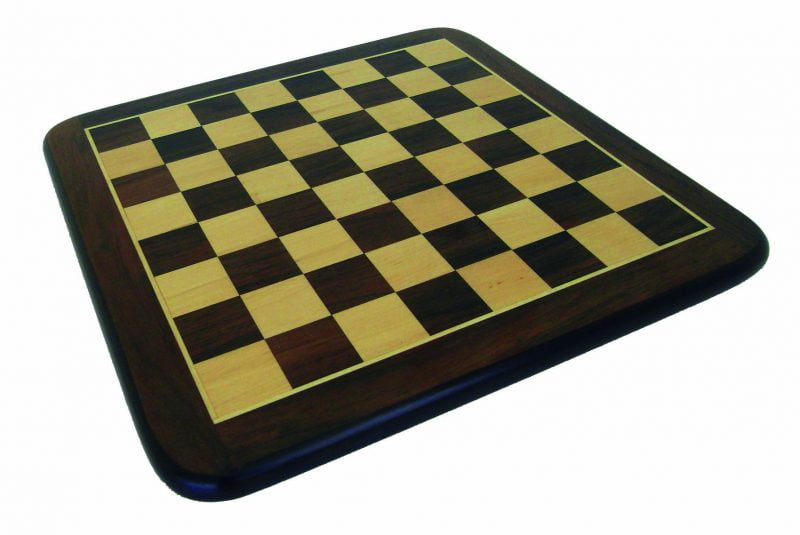 Dark Hue Rosewood and Maple Chess Board