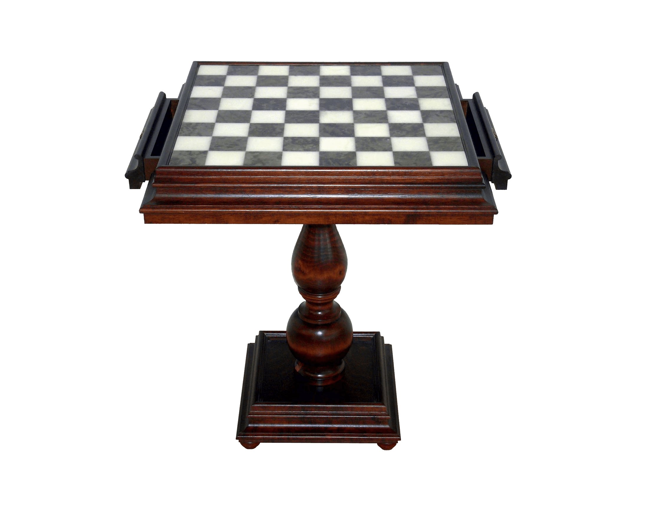 TAV520 Beech Chess Table with Alabaster and Marble Chess Board
